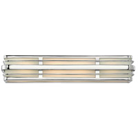 Hinkley 5234CM Winton 4 Light 26 inch Chrome Bath Vanity Wall Light in Etched Opal, Incandescent