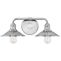 Rigby 2 Light 19 inch Polished Nickel Bath Light Wall Light