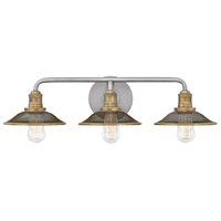 Rigby 3 Light 27 inch Antique Nickel Bath Light Wall Light