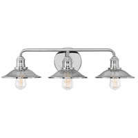 Hinkley 5293PN Rigby 3 Light 27 inch Polished Nickel Bath Light Wall Light