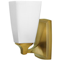Hinkley 53010BC Darby 1 Light 6 inch Brushed Caramel Bath Sconce Wall Light, Etched Opal Shades