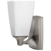 Hinkley 53010BN Darby 1 Light 6 inch Brushed Nickel Bath Sconce Wall Light, Etched Opal Shades