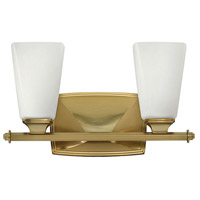 Hinkley Lighting Darby 2 Light Bath Vanity in Brushed Caramel with Etched Opal Glass 53012BC
