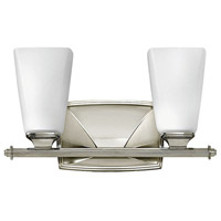 Hinkley Lighting Darby 2 Light Bath Vanity in Polished Nickel with Etched Opal Glass 53012PN