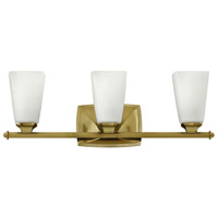 Hinkley 53013BC Darby 3 Light 23 inch Brushed Caramel Bath Light Wall Light, Etched Opal Glass