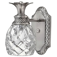 Hinkley 5310PL Plantation 1 Light 5 inch Polished Antique Nickel Bath Sconce Wall Light