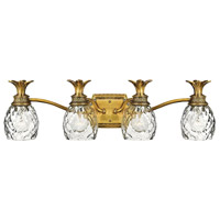Plantation 4 Light 29 inch Burnished Brass Bath Vanity Wall Light