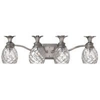 Plantation 4 Light 29 inch Polished Antique Nickel Bath Vanity Wall Light