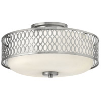 Jules LED 15 inch Brushed Nickel Bath Semi-Flush Mount Ceiling Light