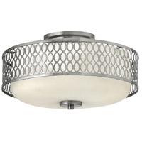 Jules 3 Light 15 inch Brushed Nickel Bath Semi-Flush Mount Ceiling Light in Incandescent