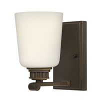 Hinkley 53320OB Annette 1 Light 5 inch Olde Bronze Sconce Wall Light, Etched Opal Glass