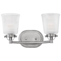 Hinkley 5352PL Bennett 2 Light 16 inch Polished Antique Nickel Bath Light Wall Light