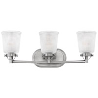 Hinkley 5353PL Bennett 3 Light 24 inch Polished Antique Nickel Bath Light Wall Light