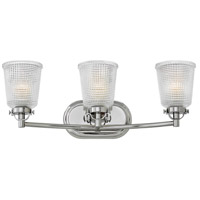 Hinkley 5353PN Bennett 3 Light 24 inch Polished Nickel Bath Light Wall Light