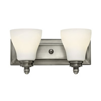Claire 2 Light 14 inch Antique Nickel Bath Wall Light