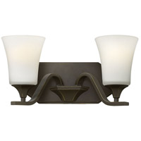 Hinkley 5362OB Brantley 2 Light 15 inch Olde Bronze Bath Wall Light