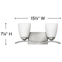 Hinkley 5372BN Josie 2 Light 16 inch Brushed Nickel Bath Light Wall Light alternative photo thumbnail
