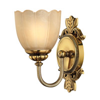 Isabella 1 Light 6 inch Burnished Brass Bath Vanity Wall Light