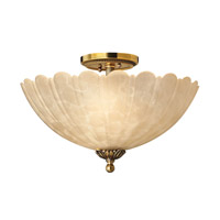 Isabella 3 Light 15 inch Burnished Brass Flush Mount Ceiling Light