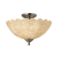 Hinkley 5391PL Isabella 3 Light 15 inch Polished Antique Nickel Semi Flush Ceiling Light