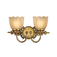 Isabella 2 Light 17 inch Burnished Brass Bath Vanity Wall Light