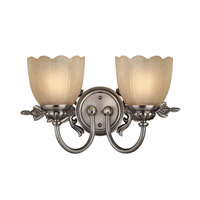 Isabella 2 Light 17 inch Polished Antique Nickel Bath Vanity Wall Light