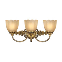 Isabella 3 Light 21 inch Burnished Brass Bath Vanity Wall Light