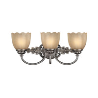 Isabella 3 Light 21 inch Polished Antique Nickel Bath Vanity Wall Light