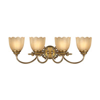 Isabella 4 Light 29 inch Burnished Brass Bath Vanity Wall Light