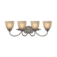 Hinkley 5394PL Isabella 4 Light 29 inch Polished Antique Nickel Bath Vanity Wall Light