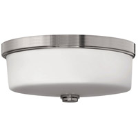 Hinkley 5421BN Signature 3 Light 17 inch Brushed Nickel Bath Flush Mount Ceiling Light, Devon