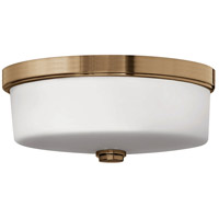 Hinkley 5421BR Signature 3 Light 17 inch Brushed Bronze Flush Mount Ceiling Light in Incandescent, Devon