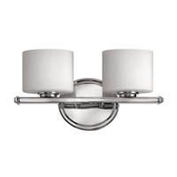 Hinkley 5422CM Ocho 2 Light 14 inch Chrome Bath Vanity Wall Light