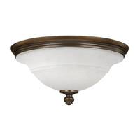 Plymouth 3 Light 18 inch Olde Bronze Flush Mount Ceiling Light, Etched Opal Glass