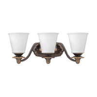 Hinkley Lighting Plymouth 3 Light Bath Vanity in Olde Bronze with Etched Opal Glass 54263OB
