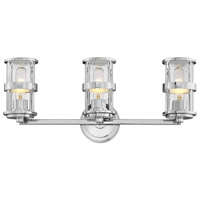 Hinkley 5433CM Noah 3 Light 23 inch Chrome Bath Wall Light