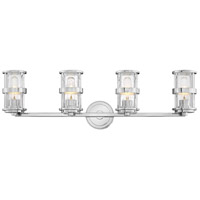 Hinkley 5434CM Noah 4 Light 33 inch Chrome Bath Wall Light