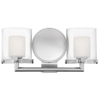 Hinkley 5492CM Rixon 2 Light 15 inch Chrome Bath Sconce Wall Light in G9