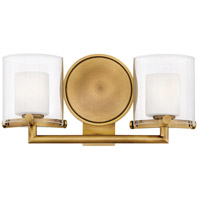 Hinkley 5492HB Rixon 2 Light 15 inch Heritage Brass Bath Sconce Wall Light in G9