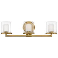 Hinkley 5493HB Rixon 3 Light 24 inch Heritage Brass Bath Sconce Wall Light in G9