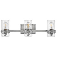 Hinkley 5513PN Nevis 3 Light 24 inch Polished Nickel Bath Light Wall Light