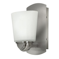 Hinkley 55210BN Kylie 1 Light 5 inch Brushed Nickel Bath Vanity Wall Light, Etched Opal Glass