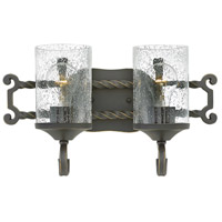 Hinkley 5542OL-CL Casa 2 Light 16 inch Olde Black Bath Light Wall Light in Clear Seedy