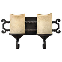 Casa 2 Light 16 inch Olde Black Bath Vanity Wall Light
