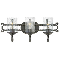 Casa 3 Light 23 inch Olde Black Bath Light Wall Light in Clear Seedy
