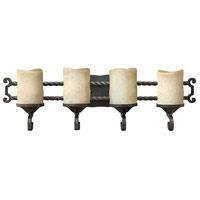 Hinkley 5544OL Casa 4 Light 29 inch Olde Black Bath Light Wall Light in Antique Scavo