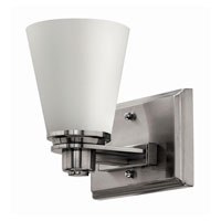 Hinkley 5550BN-GU24 Avon 1 Light 7 inch Brushed Nickel Bath Wall Light in Etched Opal, GU24