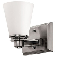 Hinkley 5550BN Avon 1 Light 7 inch Brushed Nickel Bath Sconce Wall Light in Incandescent, Etched Opal