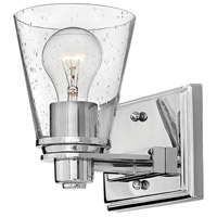 Avon 1 Light 7 inch Chrome Bath Sconce Wall Light in Incandescent, Clear Seedy