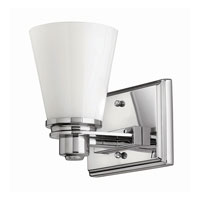 Hinkley 5550CM-GU24 Avon 1 Light 7 inch Chrome Bath Wall Light in GU24, Etched Opal